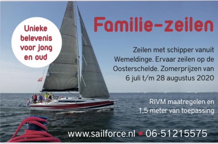 Familie zeilen met schipper sailforce oosterschelde