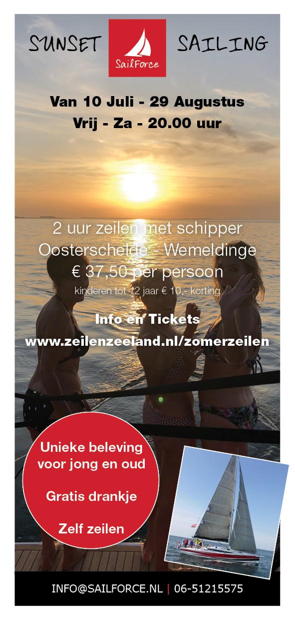 Sunset sailing sailforce zeeland