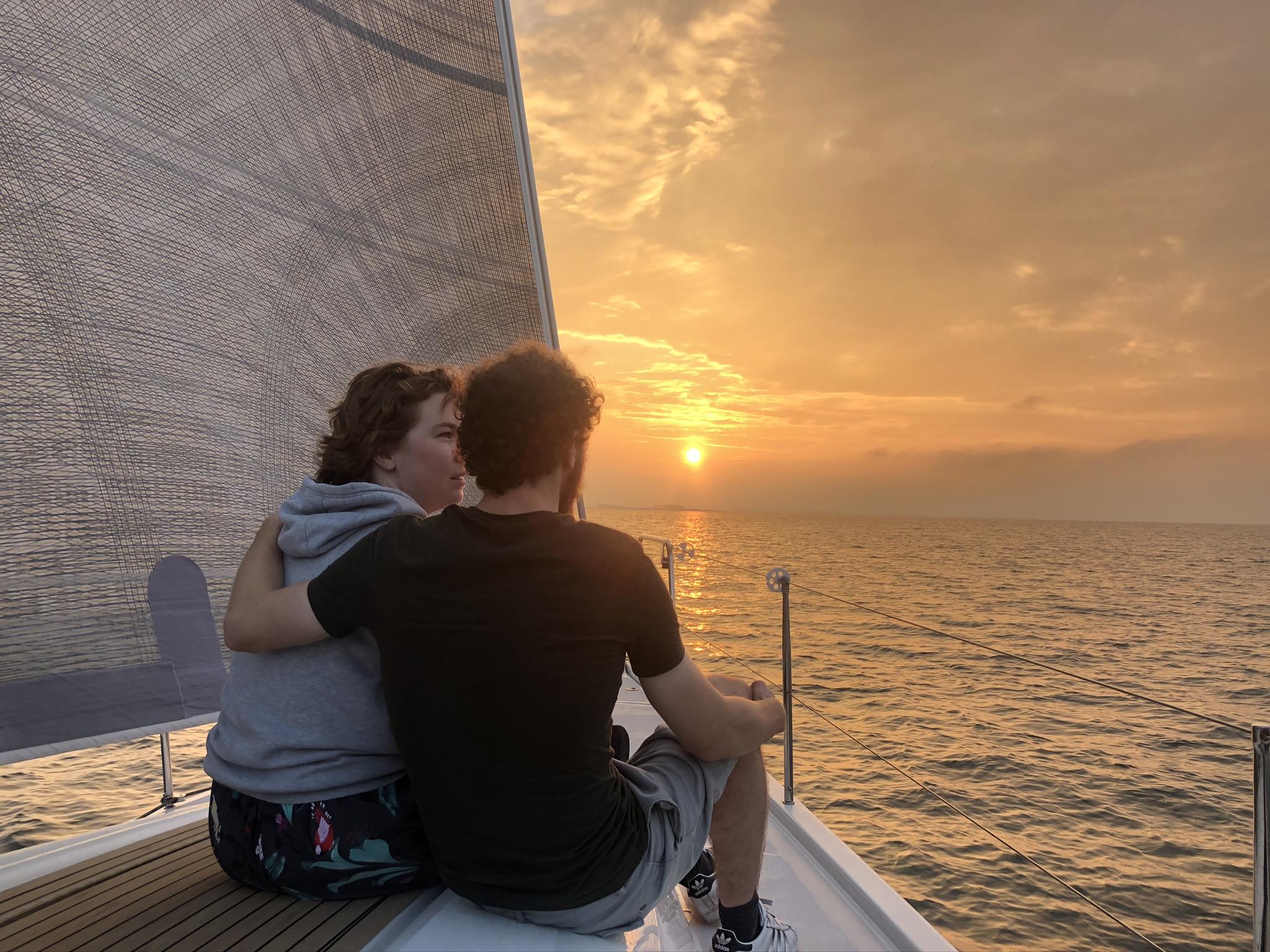 SailForce sunset sailing oosterschelde