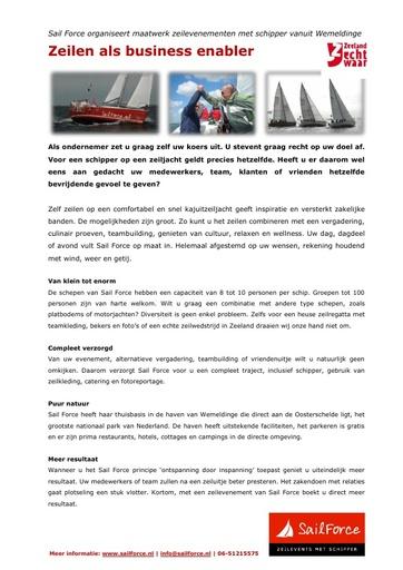 SailForce Maatwerk in zeilevents